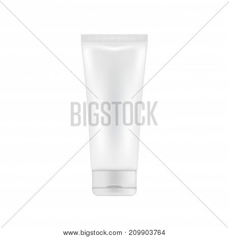 White and clean plastic package for cream or lotion. Mock up for cosmetic presentation