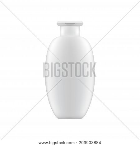 Clean shampoo or lotion bottle mock up. Cosmetic presentation Template