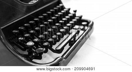 Old Manual Typewriter Machine Over White