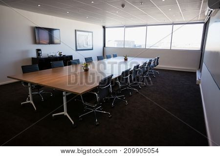 Interior of empty modern meeting room at creative office