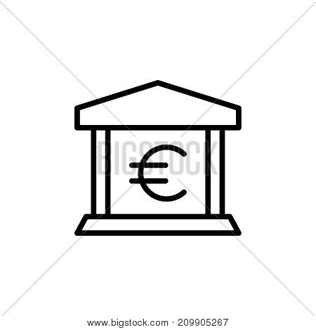 Modern bank line icon. Premium pictogram isolated on a white background. Vector illustration. Stroke high quality symbol. Bank icon in modern line style.