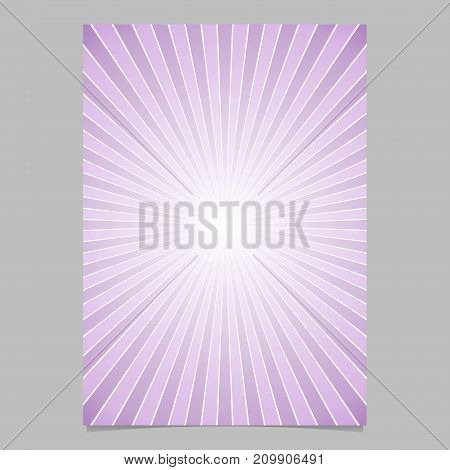 Gradient ray burst page template - vector brochure background graphic design with striped rays