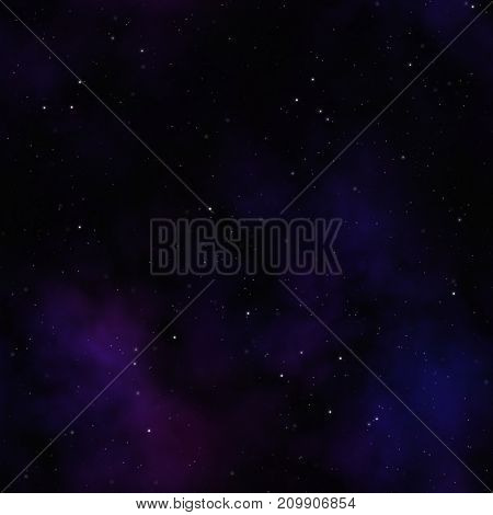 Illustration of a seamless sky by night with lots of stars