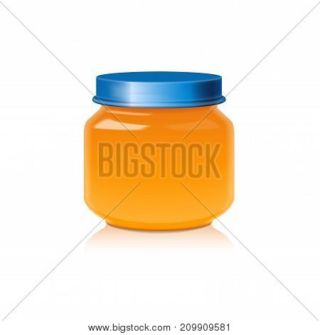 Glass Jar Mock Up For Honey, Jam, Jelly or Baby Food Puree for your design