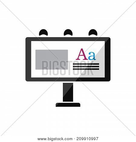 Billboard publicity icon on a white background. Vector illustration