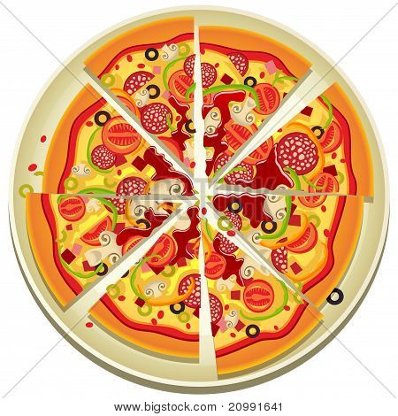Pizza Slices On The Plate