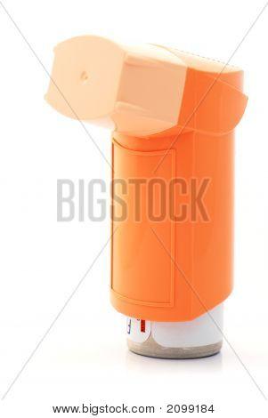 Orange Asthma Inhaler