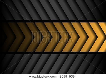 Abstract yellow gray arrow pattern black line design modern futuristic background vector illustration.