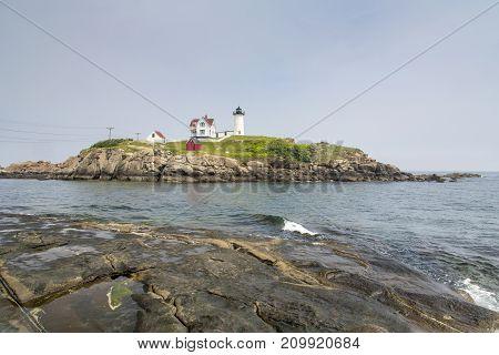 Nubble Lighthouse On Cape Neddick