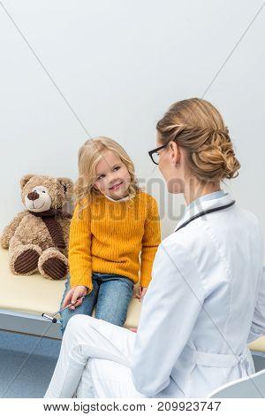 Girl Doing Neurology Examination For Doctor