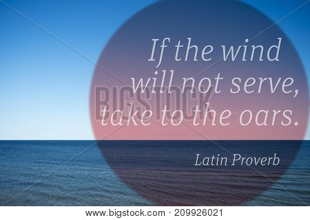To Oars Proverb