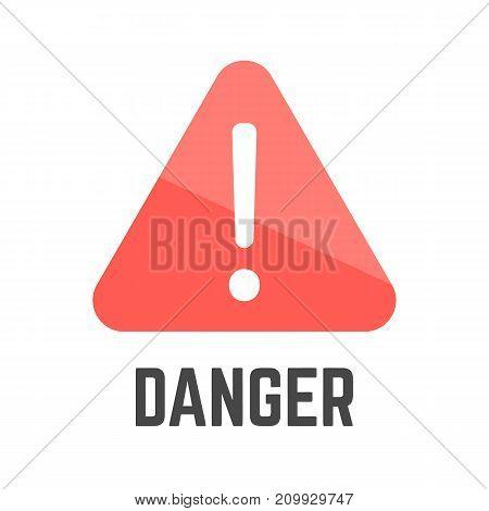 Triangular Red Danger Sign