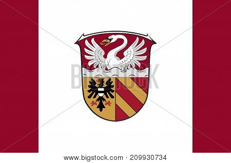 Flag of Main-Kinzig is a district in the east of Hesse Germany. Vector illustration