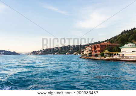 View of Istanbul and the old town from the river, the Bosphorus