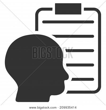User Report Page vector pictogram. Style is flat graphic gray symbol.