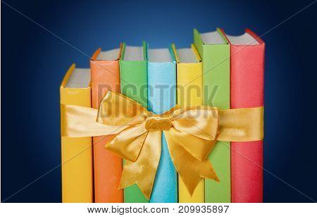 Ribbon books background nobody paper bow closeup
