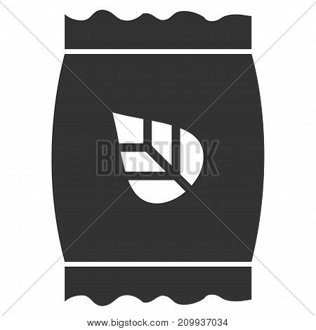 Seed Pack vector pictograph. Style is flat graphic grey symbol.