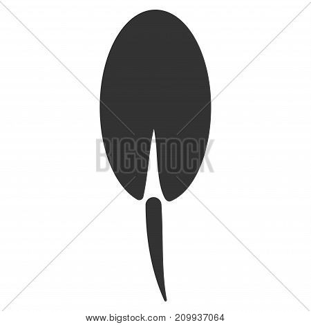 Seed Root vector pictograph. Style is flat graphic gray symbol.