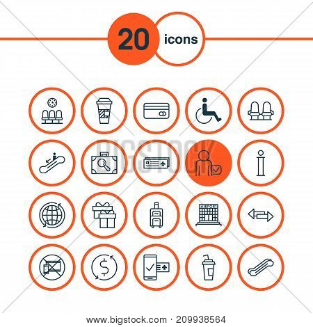 Transportation Icons Set. Collection Of World, Stair Lift, Information And Other Elements