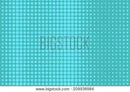 Abstract futuristic halftone pattern. Comic background. Dotted backdrop with circles, dots, point large scale. Design element for web banners, posters, cards, wallpapers, sites. Bright blue color