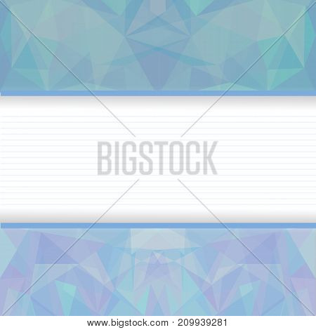colorful illustration with blue abstract polygonal background