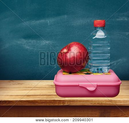 Red water food apple table background object