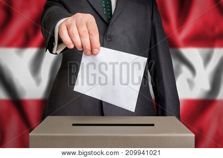 Election In Austria - Voting At The Ballot Box