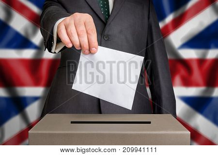 Election In United Kingdom - Voting At The Ballot Box