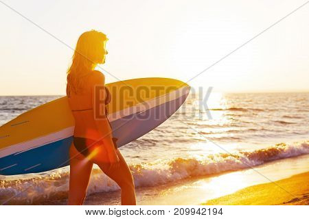 Board woman surf color person one female
