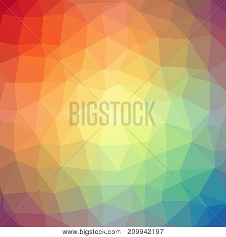 Abstract lowpoligonal background colorful background. Rainbow colors. Spectrum