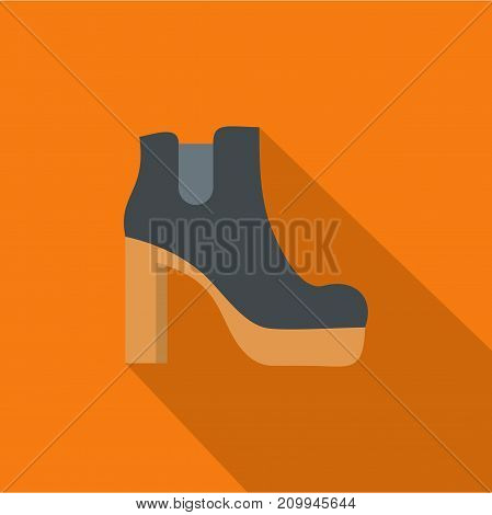 Woman shoes icon. Flat illustration of woman shoes vector icon for any web design