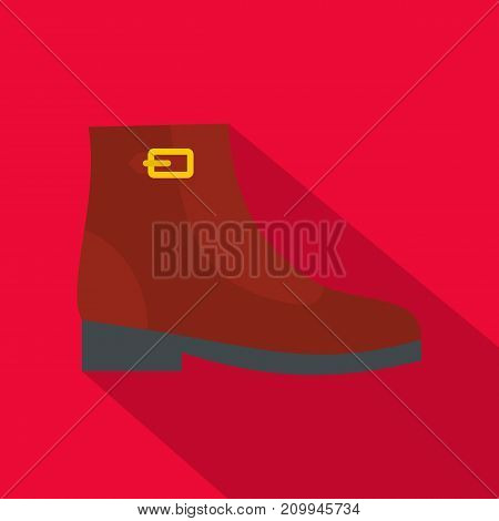 Woman boots icon. Flat illustration of woman boots vector icon for any web design