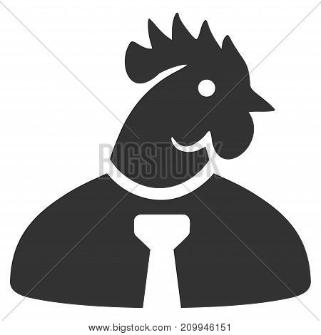 Chicken Manager vector icon. Style is flat graphic grey symbol.