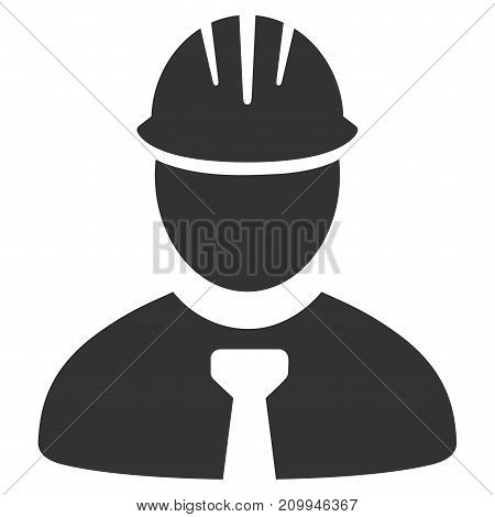Engineer vector pictograph. Style is flat graphic grey symbol.