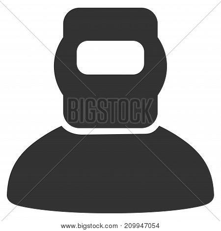 Welder vector pictogram. Style is flat graphic gray symbol.