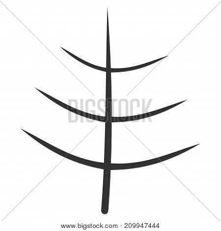 Bare Tree vector pictograph. Style is flat graphic gray symbol.