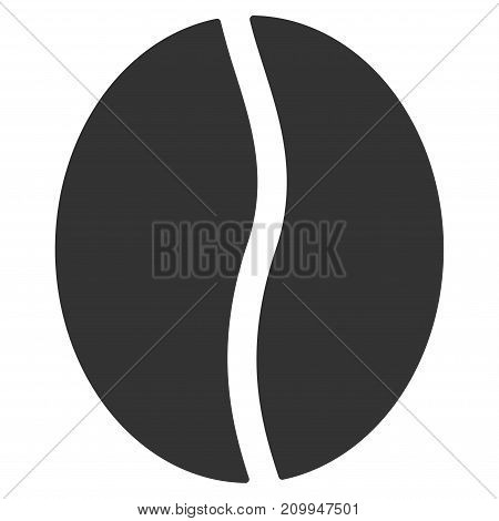 Coffee Bean vector pictograph. Style is flat graphic gray symbol.