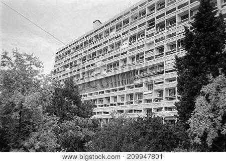 Unite D Habitation In Marseille Black And White