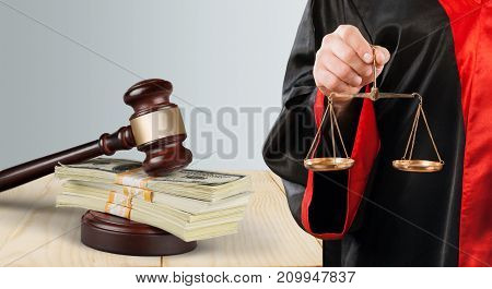 Law judge lawyer gavel close-up paper person