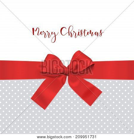 Red Bow Ribbon Christmas Decoration