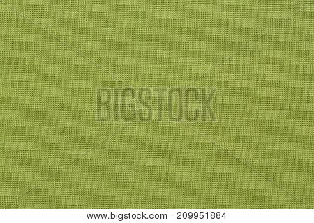 Close up of vintage green fabric background.