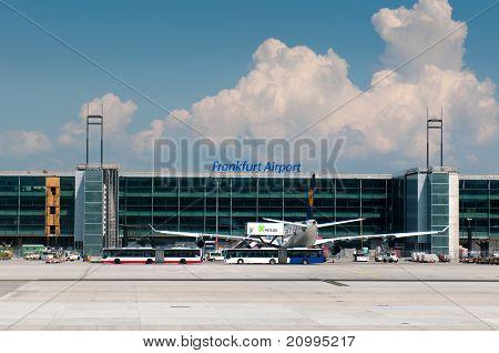 Flugzeuge in Frankfurt am Main-Flughafen