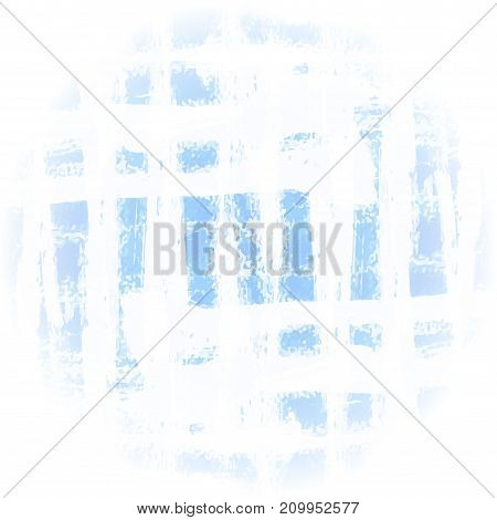Blue white  grunge background. Vector background of blue and white intersecting brush strokes.