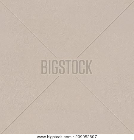 Beige leather texture close up. Seamless square background, tile ready. High resolution photo.