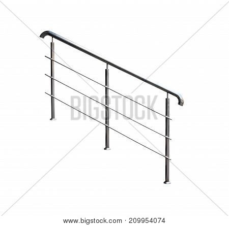 Contemporary decorative railings. Isolated over white background.