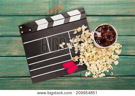 Set movie entertainment studio scene action board