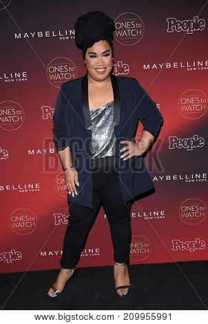 LOS ANGELES - OCT 04:  Patrick Starrr arrives for the People's 'One's To Watch' Event on October 4, 2017 in Hollywood, CA