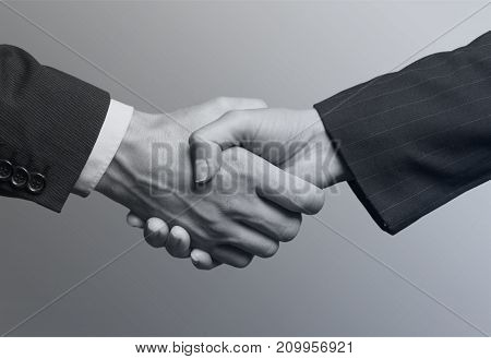 Business people hands meeting black and white group young