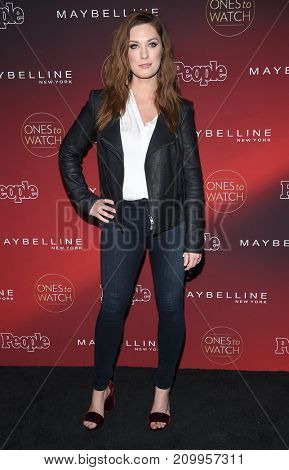 LOS ANGELES - OCT 04:  Briga Heelan arrives for the People's 'One's To Watch' Event on October 4, 2017 in Hollywood, CA