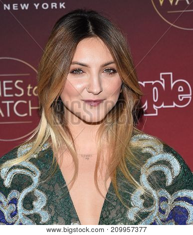 LOS ANGELES - OCT 04:  Julia Michaels arrives for the People's 'One's To Watch' Event on October 4, 2017 in Hollywood, CA